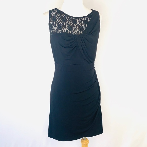 Laundry By Shelli Segal Dresses & Skirts - Laundry by Shelli Segal Ruched Lace Cocktail Dress